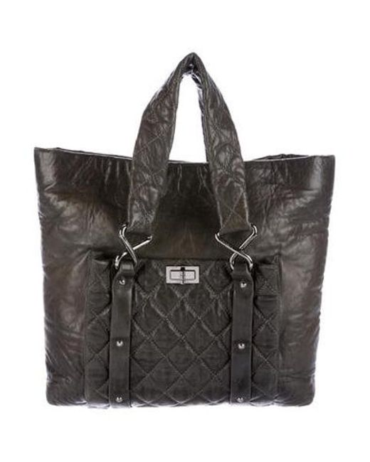 Chanel - Metallic 8 Knots Leather Tote Silver - Lyst