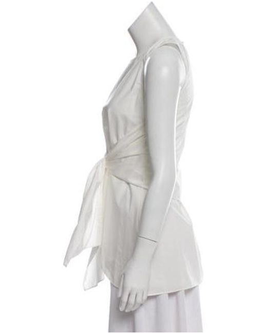 0a55092fb03e7 ... 10 Crosby Derek Lam - White Sleeveless Tie-accented Top - Lyst ...