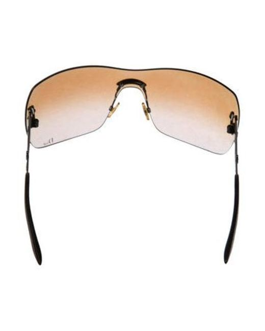 329e2f0693db ... Dior - Brown Rimless Gradient Sunglasses - Lyst ...