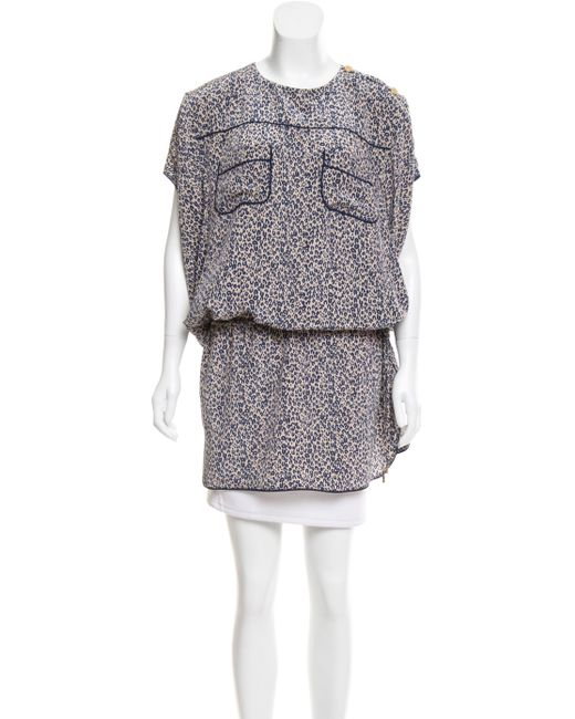 Louis Vuitton - Blue Silk Cheetah Print Tunic - Lyst