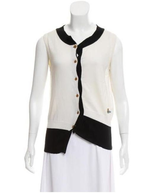 Vivienne Westwood Red Label - Black Sleeveless Button-up Cardigan - Lyst ... b862f88d7