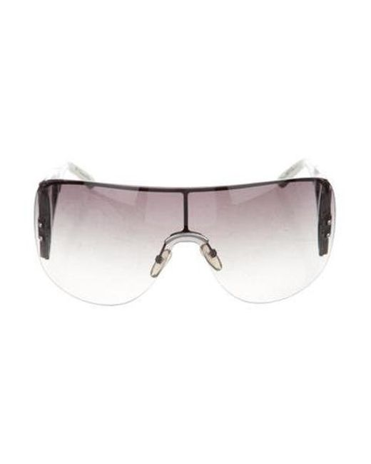 4d5d028db75e7 Dior - Metallic Oversize Shield Sunglasses Silver - Lyst ...