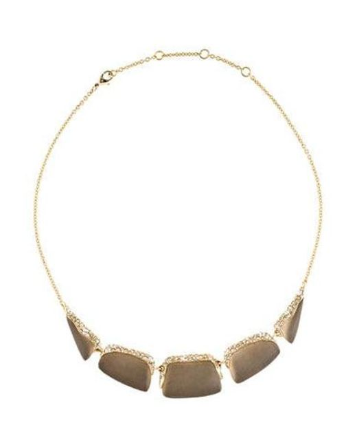 Alexis Bittar - Metallic Lucite & Crystal Encrusted Articulated Bib Necklace Gold - Lyst