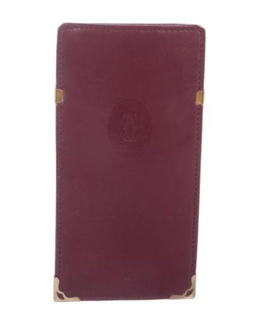 fedb2ada386 Cartier - Red Leather Sunglasses Case Burgundy - Lyst ...
