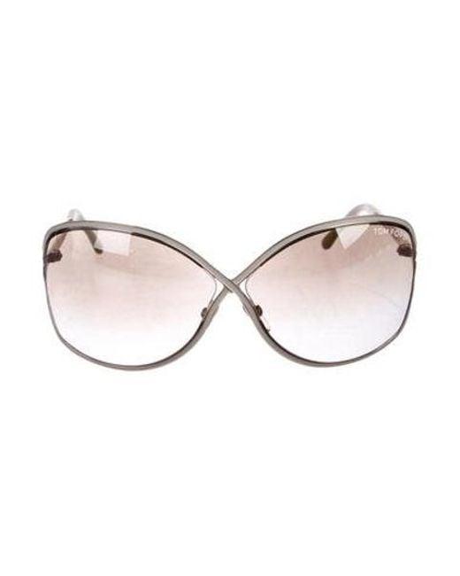 0999b48cc4a97 Tom Ford - Metallic Rickie Oversize Sunglasses Silver - Lyst ...