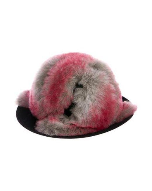 3a531abac1a Yohji Yamamoto - Gray Fur-trimmed Wool Hat Black for Men - Lyst ...