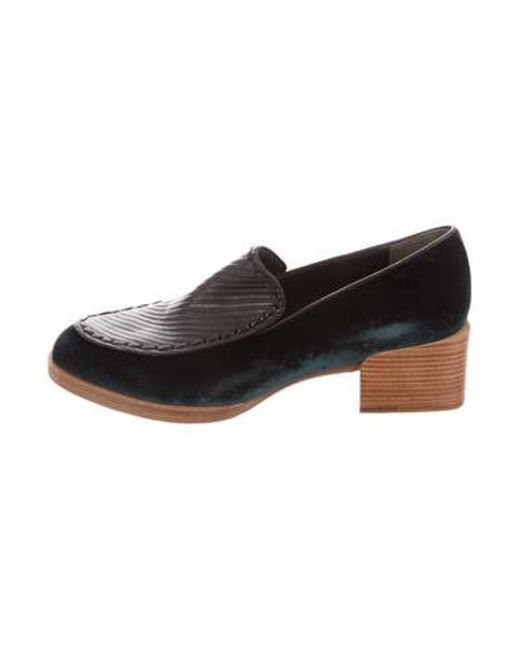 fce67db97e6 3.1 Phillip Lim - Black Velvet Pointed-toe Loafers - Lyst ...