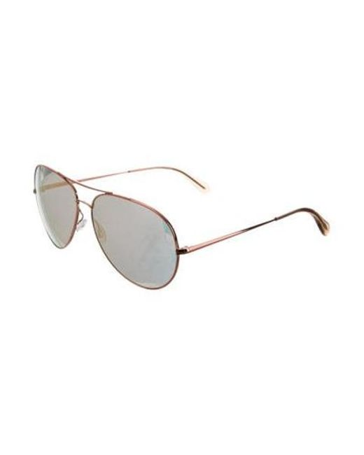 e00b02f614b ... Oliver Peoples - Metallic Sayer Aviator Sunglasses Gold for Men - Lyst  ...