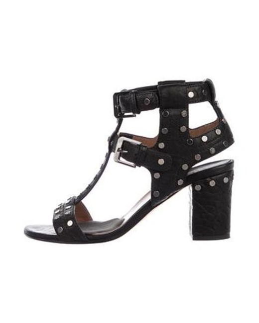 ea7c1e1f569 Laurence Dacade - Metallic Leather Caged Sandals Black - Lyst ...