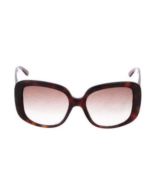 6085d61420a22 Dior - Metallic Gradient Square Sunglasses Red - Lyst ...
