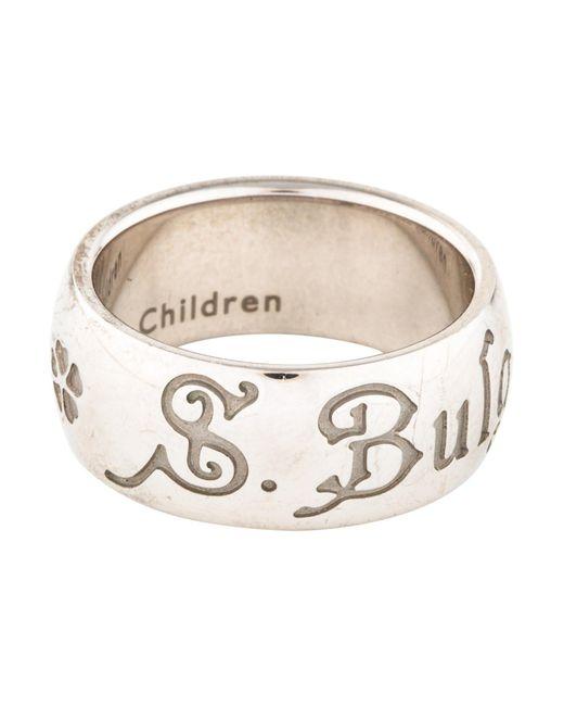 BVLGARI - Metallic Save The Children Ring Silver - Lyst