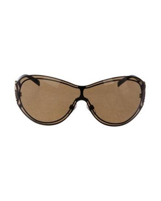 75a15e847cc02 Chanel - Metallic Cc Shield Sunglasses Gold - Lyst ...