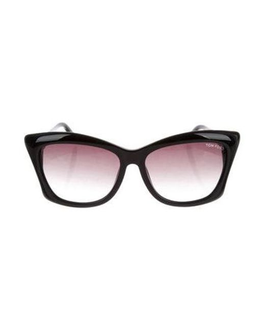 acdc9918bb208 Tom Ford - Metallic Lana Tinted Sunglasses W  Tags Black - Lyst ...