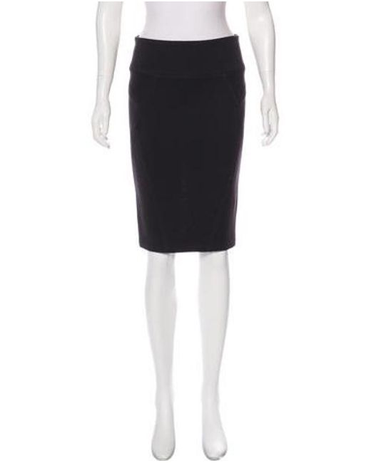 1f03065f7eb Veronique Leroy - Gray Knit Pencil Skirt - Lyst ...