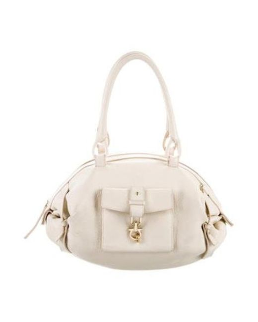 Lyst - Ferragamo Leather Bowler Bag Gold in Metallic - Save ... b1cfc903523a1