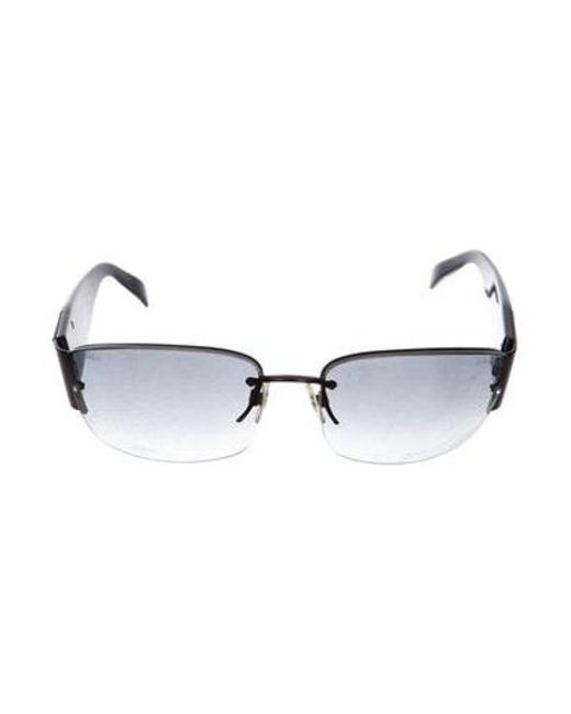 e009ffd4090e Chanel - Black Strass Cc Sunglasses - Lyst ...