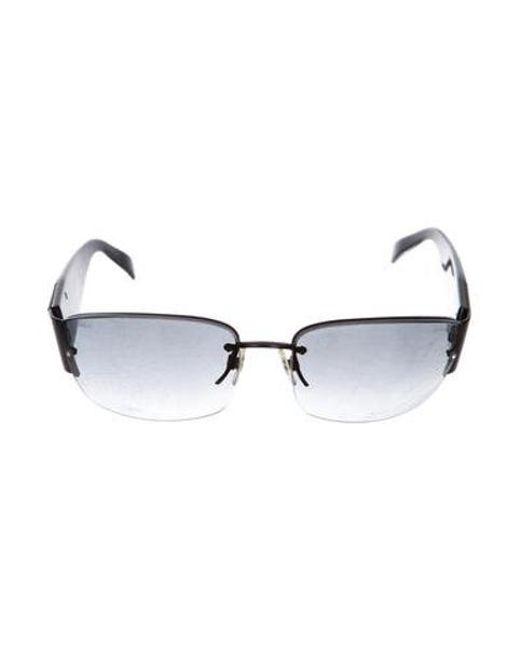 0a967d4a7e8 Chanel - Black Strass Cc Sunglasses - Lyst ...