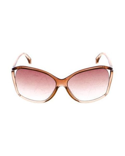 c53687fd42dd1 Michael Kors - Brown Gradient Oversize Sunglasses - Lyst ...
