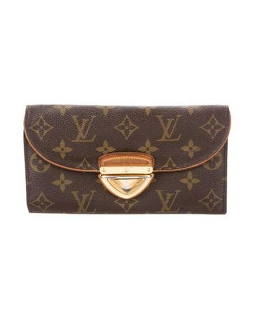 5cb5fca5aabd Louis Vuitton - Natural Monogram Eugenie Wallet Brown - Lyst ...