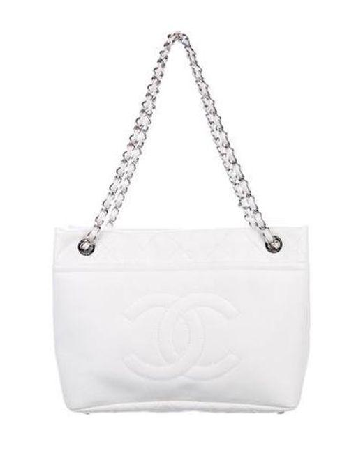 Chanel - Metallic Timeless Soft Shopper Tote White - Lyst ... 10489dffef4c6