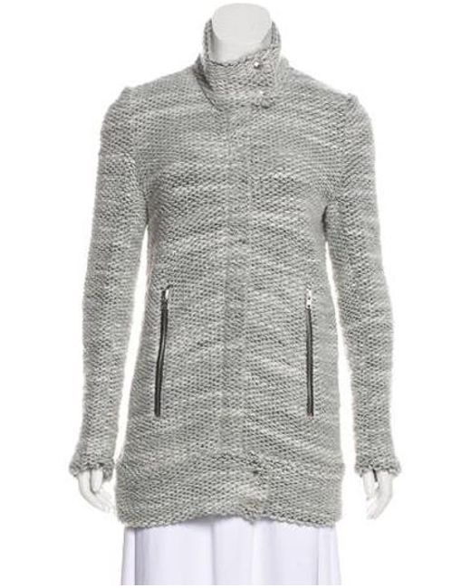 IRO - Natural Wool-blend Ajuma Coat Grey - Lyst