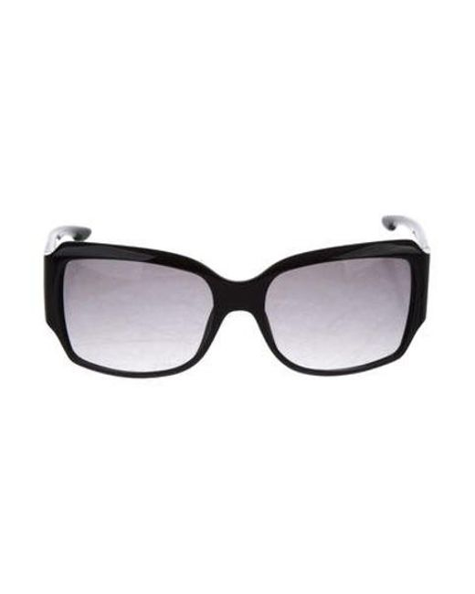 08fea91c868 Dior - Metallic Logo Square Sunglasses Black - Lyst ...