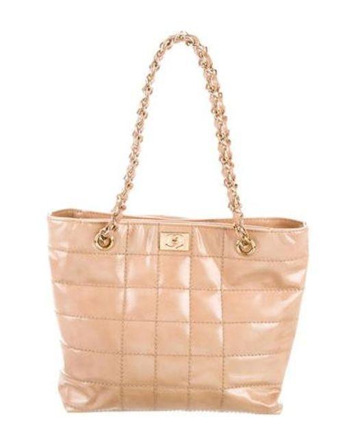 015e55562623 Chanel - Metallic Vintage Square Quilt Shoulder Bag Beige - Lyst ...