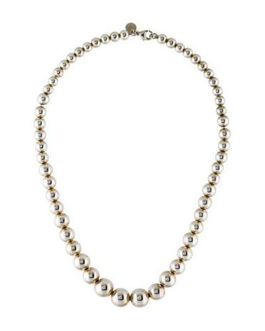 Tiffany & Co - Metallic Hardwear Graduated Ball Necklace Silver - Lyst