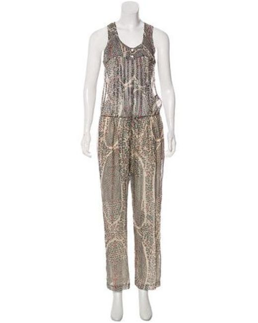 Isabel Marant - Red Printed Silk Jumpsuit W/ Tags - Lyst