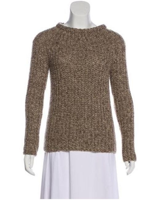 521aa22c6d Brunello Cucinelli - Natural Suede-accented Wool Sweater Tan - Lyst ...