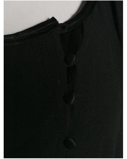 Lyst Diane Von Furstenberg Laos Silk Blouse In Black