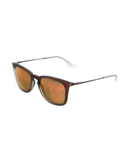 5342410c831e0b ... Ray-Ban - Metallic Mirrored Lens Sunglasses Copper - Lyst ...