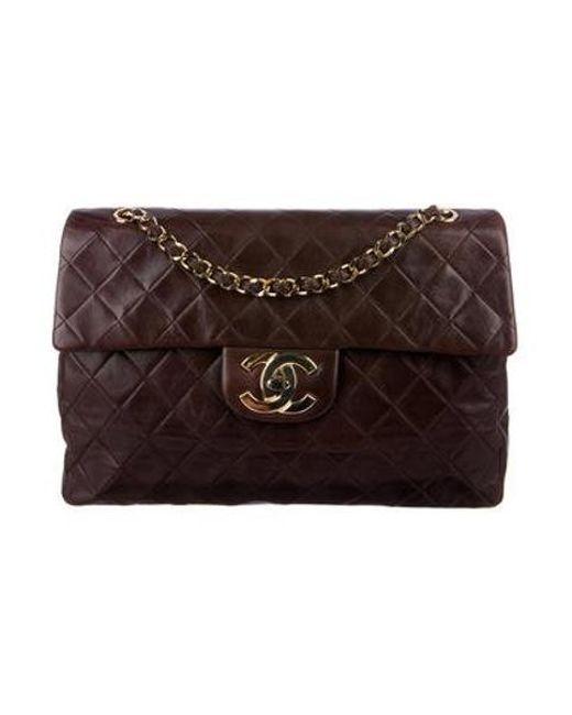 605d882a1710 Chanel - Metallic Vintage Maxi Classic Single Flap Bag Gold - Lyst ...
