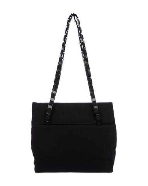 Ferragamo - Metallic Vintage Woven Shoulder Bag Black - Lyst ... a326e5b9f7