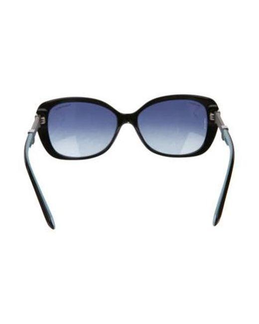 55c962d22079 ... Tiffany   Co - Metallic Acetate Round Sunglasses Black - Lyst