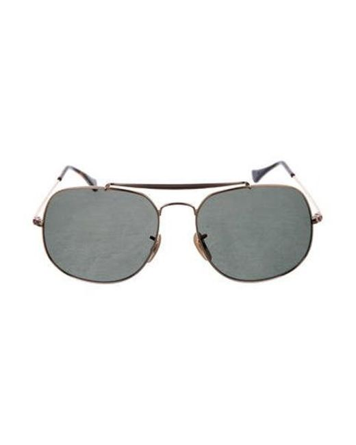 aed511d480 Ray-Ban - Metallic Aviator Polarized Sunglasses Silver for Men - Lyst ...