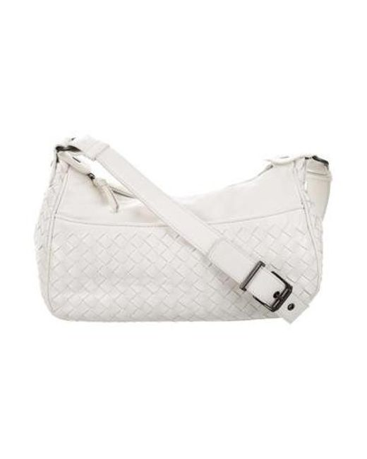 eba59b25f9 Bottega Veneta - Natural Intrecciato Leather Crossbody Bag Black - Lyst ...
