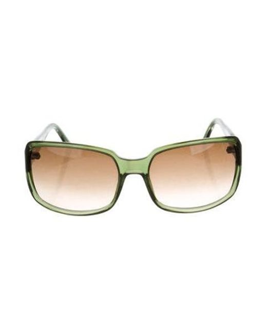 1824cde701c Marc Jacobs - Metallic Square Gradient Sunglasses Green - Lyst ...