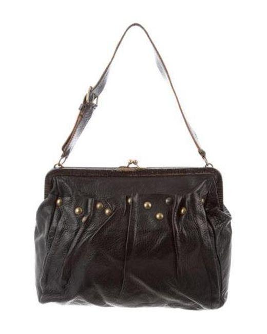 301cb2badc75 Miu Miu - Black Miu Studded Leather Shoulder Bag - Lyst ...