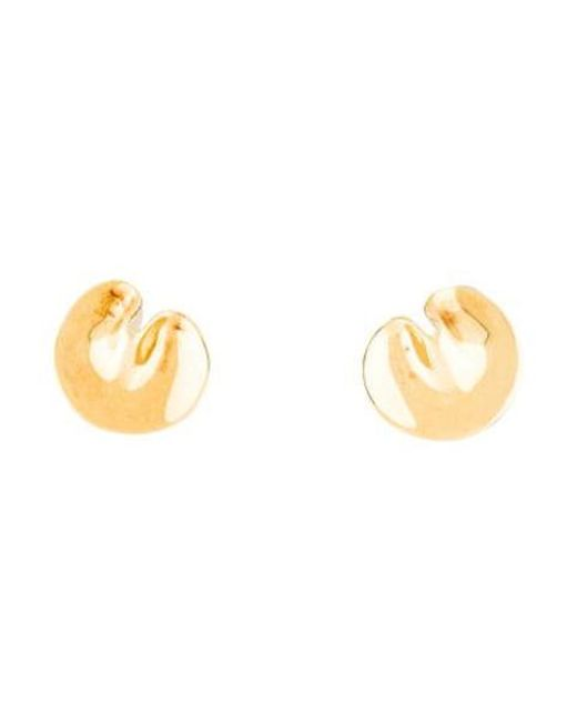 Tiffany & Co - Metallic 18k Lily Pad Clip-on Earrings Yellow - Lyst