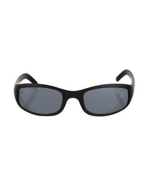 3c8b390cefd99 Cartier - Metallic Mirrored Shield Sunglasses Black - Lyst ...