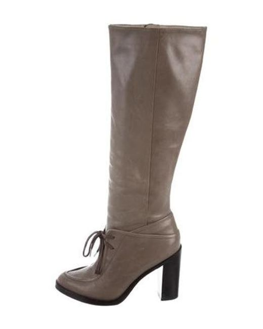 10 Crosby Derek Lam - Gray Leather Knee-high Boots - Lyst