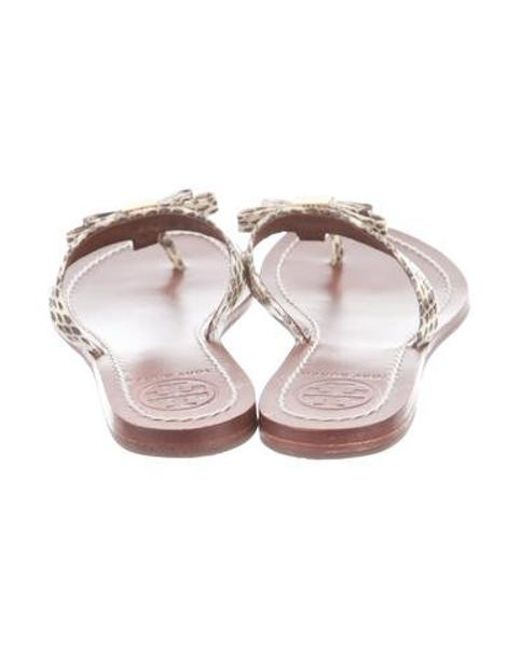 c48230953 ... Tory Burch - Multicolor Snakeskin Thong Sandals Animal Print - Lyst