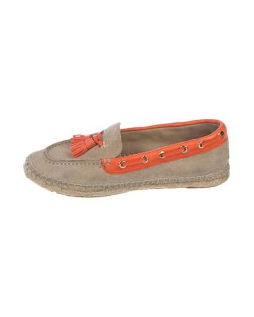 0716fd1b9762 Tory Burch - Natural Suede Espadrille Loafers Beige - Lyst ...
