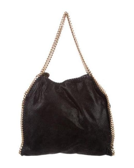 618bd686ace Stella McCartney - Metallic Small Shaggy Deer Falabella Tote Black - Lyst  ...