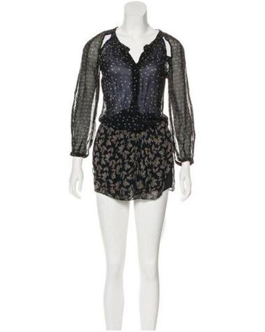Étoile Isabel Marant - Black Long Sleeve Mini Dress - Lyst