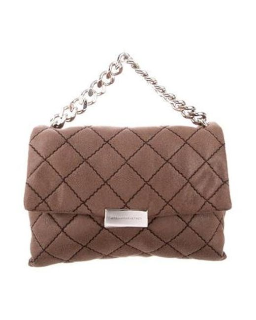 f7986e7aaa Stella McCartney - Brown Quilted Medium Beckett Bag - Lyst ...