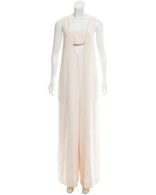 c981c2c0e56 Opening Ceremony - White Sleeveless Wide-leg Jumpsuit - Lyst ...