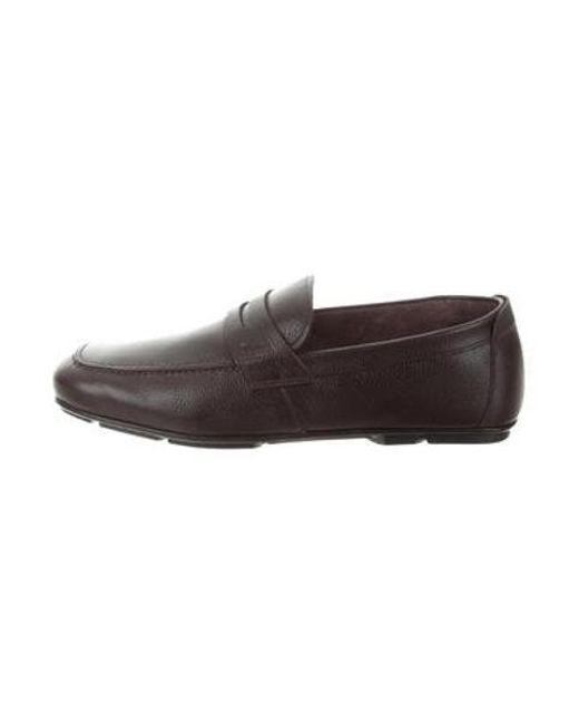 51287046d70c7 Ferragamo - Brown Leather Nuevo Loafers for Men - Lyst ...