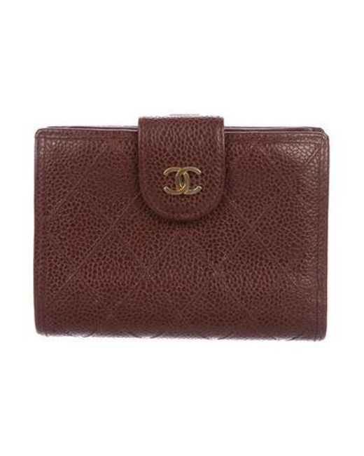 817b143b24fc Chanel - Metallic Compact French Purse Wallet Brown - Lyst ...